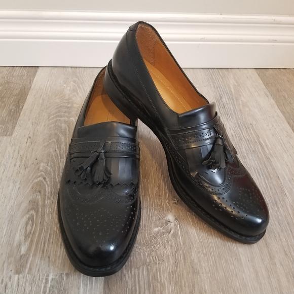 Principles Other - Mens Leather Wingtip Tassel Oxfords size 9 - black